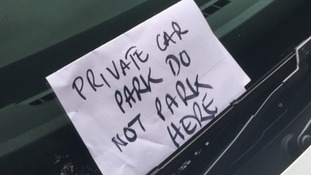 Angry note left on first response vehicle