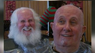 Santa Dave shaves off 30-year-old beard for charity