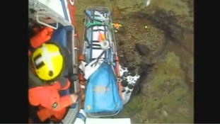 Man recovering from serious injuries after falling 20 feet down large hole