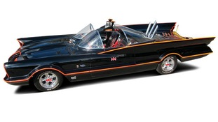 The customised 1955 Lincoln Futura Batmobile from the hit 1960s TV show.