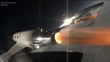Virgin Spaceship Unity takes off in California.