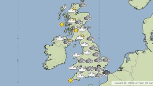 The Met Office forecast for today