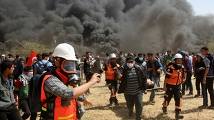 At least nine Palestinians dead after protests along Gaza's border with Israel