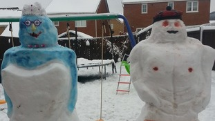 A 'snowbride' and 'hunky snowman'