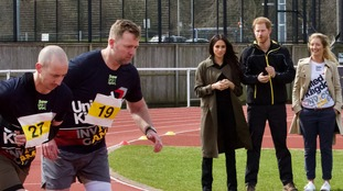 Prince Harry & Meghan Markle cheer on Invictus Games hopefuls in Bath