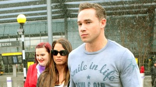 Katie Price and her new husband Kieran Hayler arrive back in the UK at Heathrow Airport, after their recent wedding.