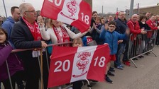 Hundreds waved off the Imps at Sincil Bank