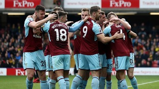 Burnley maintain European pursuit as they come from a goal down to beat Watford