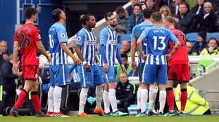 Davy Propper sent off as Brighton draw with fellow relegation scrappers Huddersfield at the Amex Stadium