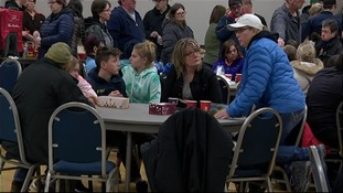 Parents gathered at the town's sports centre on Saturday morning.
