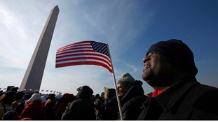 One of almost 2 million people who attended President Obama's first inauguration in 2009