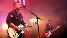 The Manic Street Preachers on stage