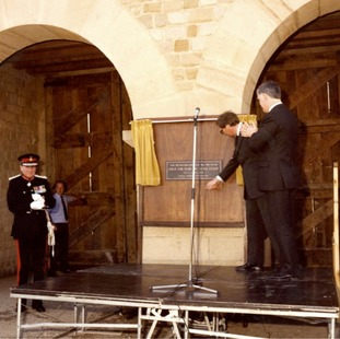 The gate was officially opened by the Duke of Gloucester on 6 April 1988