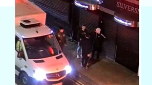 Police have released CCTV from the night a man was stabbed in Northampton