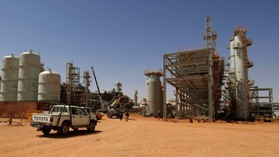 The In Amenas gas plant is surrounded by miles of desert in eastern Algeria