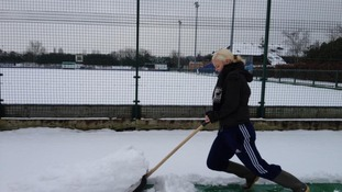 Snow at Reading Hockey Club