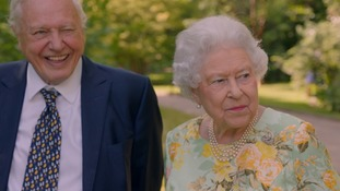 'It sounds like President Trump!' Queen shows funny side in conversation with Sir David Attenborough for ITV documentary