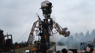 The giant Man Engine wows crowds on Welsh tour