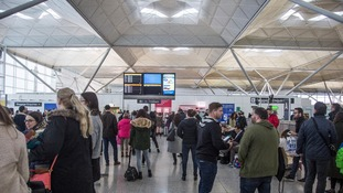 Delays at Stansted Airport cause chaos