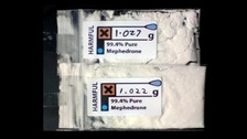 Mephedrone with label