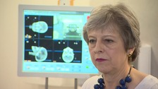Theresa May unveiled funding for prostate cancer research
