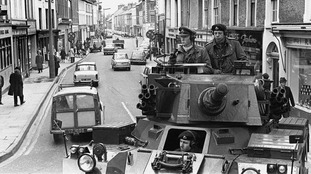 British troops were deployed to Northern Ireland in August 1969, signalling the start of the Troubles.