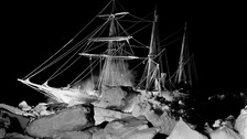 A picture of Endurance caught in the ice