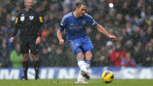 Lampard scored Chelsea's second goal from the penalty spot