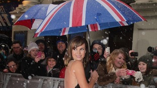 Amanda Holden arriving for Britain's Got Talent 2013 Judges Auditions Tour in London today.