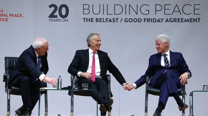 Architects of good friday agreement mark 20th anniversary itv news blair ahern and clinton were pivotal architects in the peace accord platinumwayz