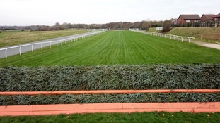 A jockey's eye view of the course