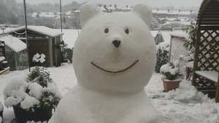 A snow polar bear