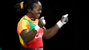 Cameroon weightlifter Arcangeline Sonkbou Fouodji - seen here at the 2016 Olympics - has gone missing at the Commonwealth Games.