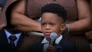 Winnie Mandela's great grandson pays adorable tribute as thousands gather at Soweto memorial service