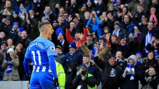 Chris Hughton is hoping Brighton can claim one over rivals Crystal Palace in the Premier League