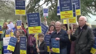 Environmentalists protest over £3.5 billion road scheme