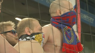 CSKA Moscow fans put on a fearsome display in the stands in a recent derby with Dynamo Moscow.