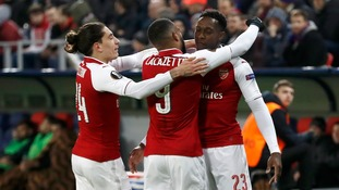 Arsenal progress to the semi-finals of the Europa League after drawing 2-2 with CSKA Moscow