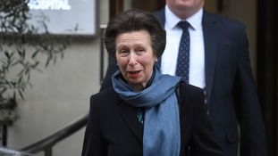 Princess Anne visited her father on Thursday.