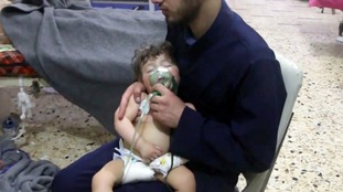 One of the youngest victims from Saturday's suspected chemical attack.
