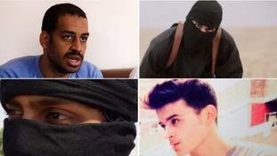 From left, Alexanda Kotey, Mohammed Emwazi, Hamza Parvez and Fatlum Shalaku.