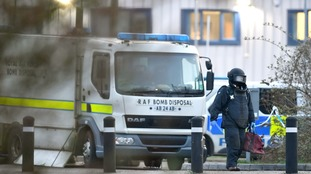 An RAF bomb disposal van could be seen at the jail