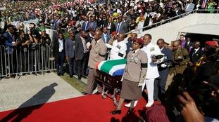 Winnie Mandela coffin