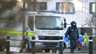 Bomb disposal squad at Peterborough Prison on Friday 13 April