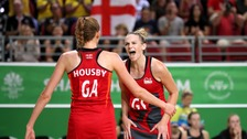 Jo Harten (right) was England's hero.
