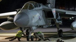 Britain has joined France and the US in striking Syria.