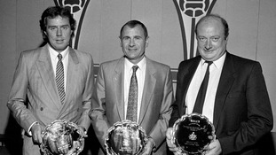 Graham Carr (right) won Division Four manager of the year in 1987 while at Northampton Town.