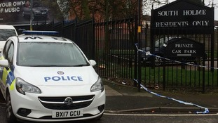 A cordon along Garrison Lane and South Holme remains in place as forensic examinations take place.