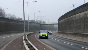 Scene of the crash on the A50