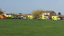 Various ambulances were sent to scene.